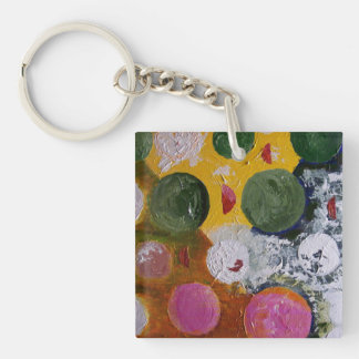 Abstract Worlds Single-Sided Square Acrylic Keychain