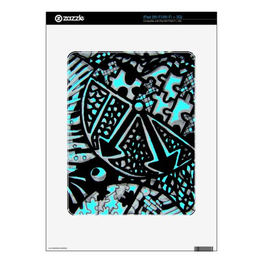 Abstract Worlds Time Piece Decal For The iPad