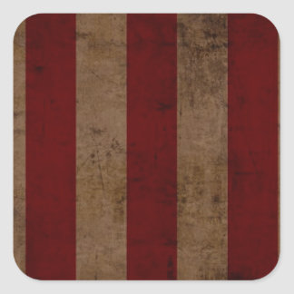 Abstract Worn American Flag Square Sticker
