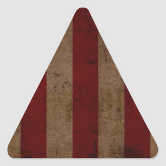 Abstract Worn American Flag Triangle Sticker