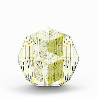 Abstract Yellow 3d Cubes Award