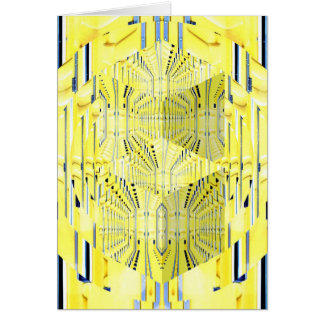 Abstract Yellow 3d Cubes Card