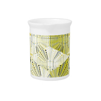 Abstract Yellow 3d Cubes Drink Pitcher
