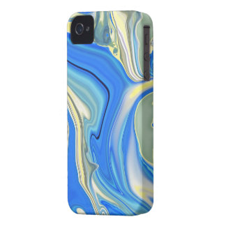 Abstract Yellow and Blue River Delta Phone Case iPhone 4 Case