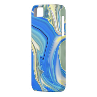 Abstract Yellow and Blue River Delta Phone Case iPhone 5 Cover