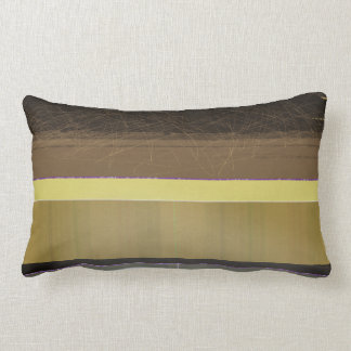 Abstract Yellow and brown stripes Throw Pillow