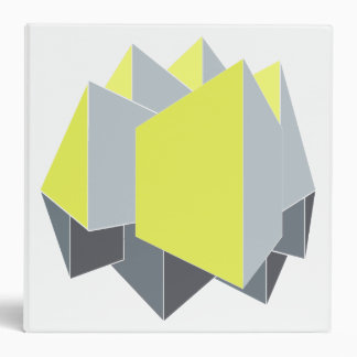 Abstract yellow and gray blocks in perspective 3 ring binders