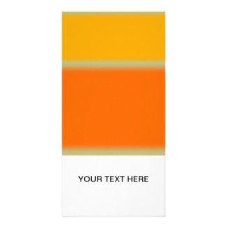 Abstract Yellow and Orange Photo Card Template