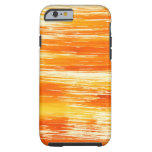 Abstract yellow background from watercolor tough iPhone 6 case