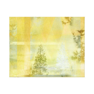 Abstract Yellow Green Light Landscape Canvas Prints