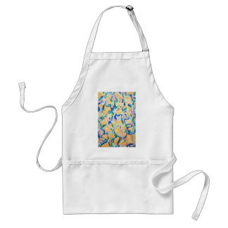 Abstract Yellow Morning Glories (abstract flowers) Adult Apron