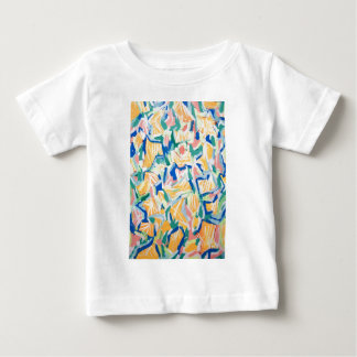 Abstract Yellow Morning Glories (abstract flowers) Baby T-Shirt