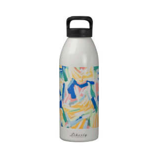 Abstract Yellow Morning Glories abstract flowers Reusable Water Bottles