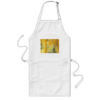Abstract Yellow Orange Landscape Long Apron