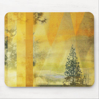 Abstract Yellow Orange Landscape Mouse Pad