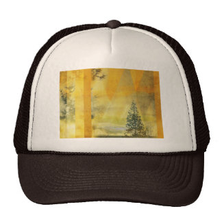 Abstract Yellow Orange Landscape Trucker Hat