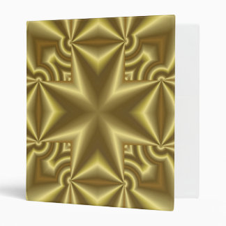Abstract yellow Pattern Cross 3 Ring Binder