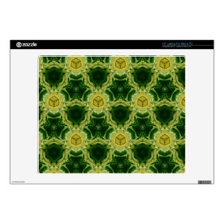 Abstract yellow pattern laptop decals