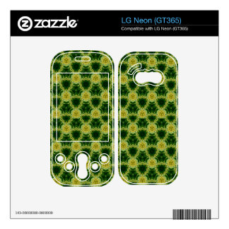 Abstract yellow pattern skin for the LG neon