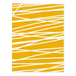 Abstract yellow post card