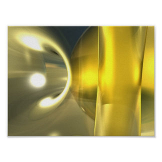 Abstract Yellow Poster