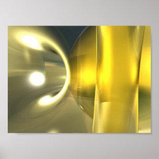 Abstract Yellow Print