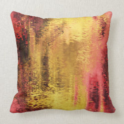 Abstract yellow red reflection pillows