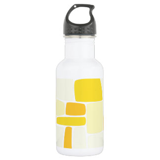 Abstract Yellow Squares Stainless Steel Water Bottle
