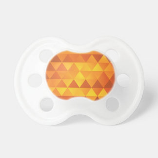 Abstract Yellow Triangles Pacifier