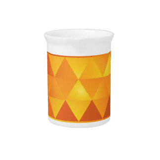 Abstract Yellow Triangles Pitcher
