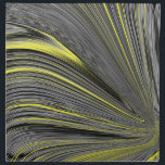 "Abstract Yellow Warp Cloth Napkin<br><div class=""desc"">Cool and stylish linear abstract design in a swirl formation.  Colors featured are yellow,  black,  white and gray.</div>"