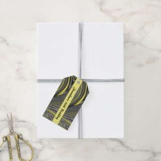 Abstract Yellow Warp Custom Pack Of Gift Tags