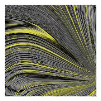 Abstract Yellow Warp Poster