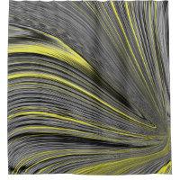 Abstract Yellow Warp Shower Curtain