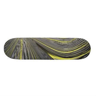 Abstract Yellow Warp Skateboard