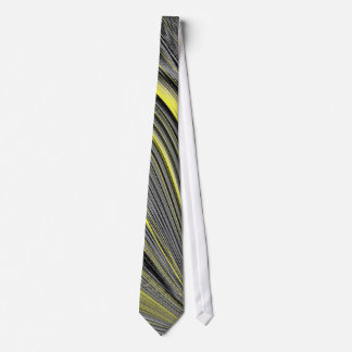 Abstract Yellow Warp Tie
