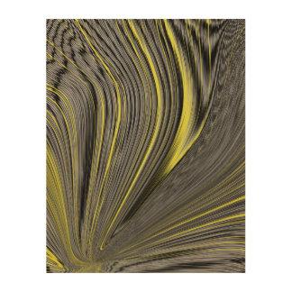 Abstract Yellow Warp Wood Print