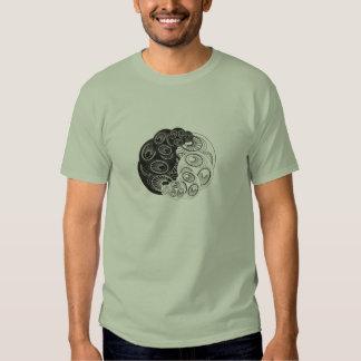 Abstract Yin Yang Design Tshirt