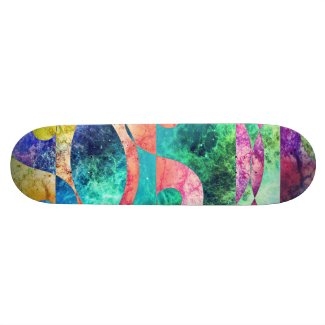 Abstract Yin Yang Nebula Skateboard #2