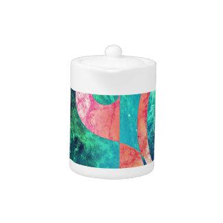 Abstract Yin Yang Nebula Teapot
