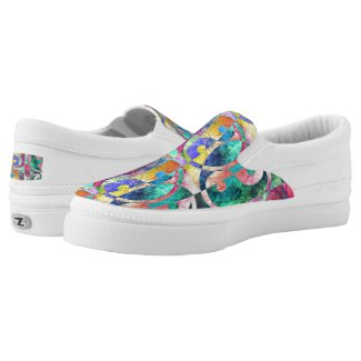 Abstract yin Yang Nebula ZIPZ Slip-On Sneakers