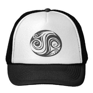 abstract yin yang trucker hat