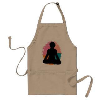 Abstract Yoga Girl Aprons