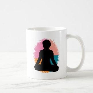 Abstract Yoga Girl Classic White Coffee Mug