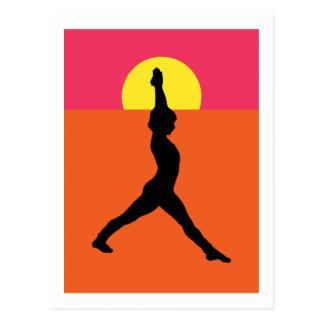 Abstract Yoga Pose Post Card