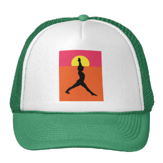 Abstract Yoga Pose Trucker Hat