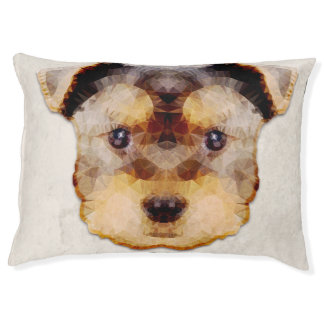 abstract yorkie large dog bed