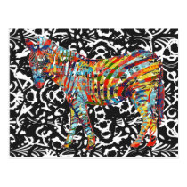 Abstract Zebra Art Postcard