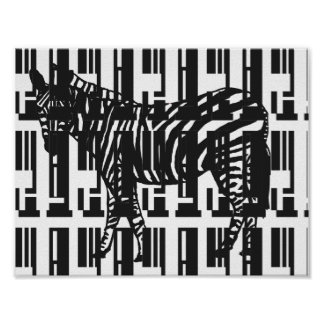 Abstract Zebra Art Poster