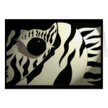 Abstract Zebra Card